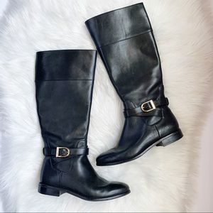 Cole Haan • Black Leather Riding Boots • Size 7.5